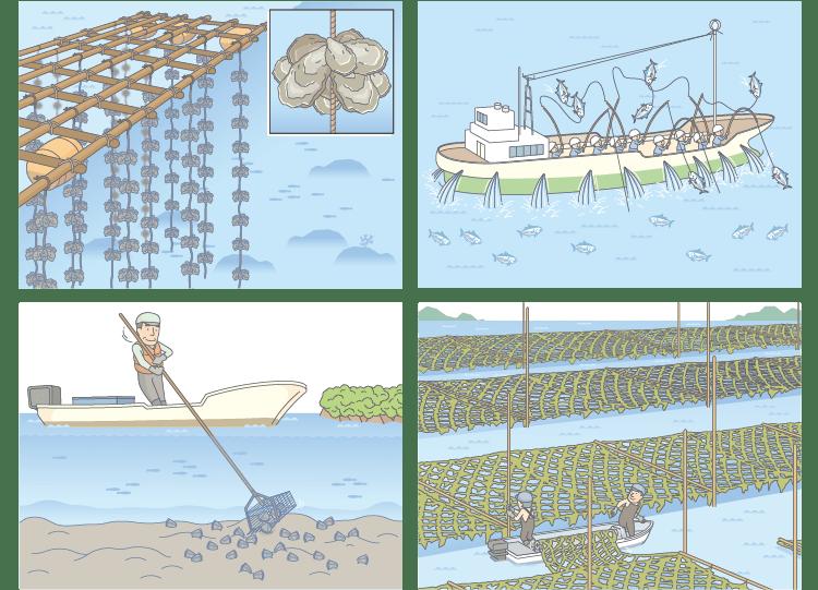 漁業のイラスト