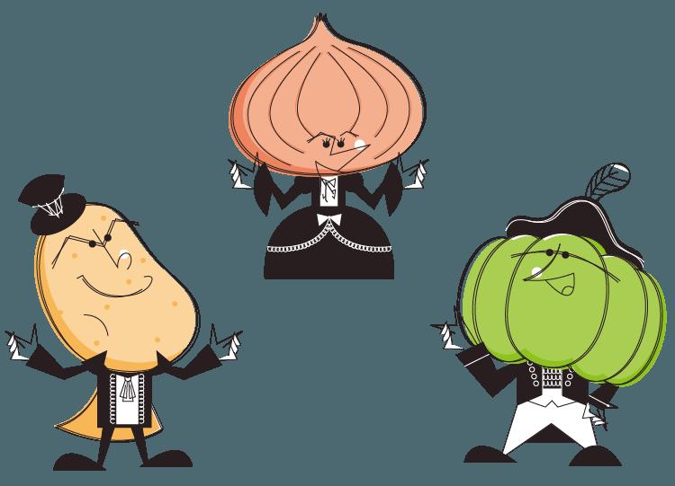 野菜のキャラクター
